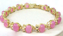 Free Shipping ++++++++Jewelry Pink Plate Gold Bracelet(China)