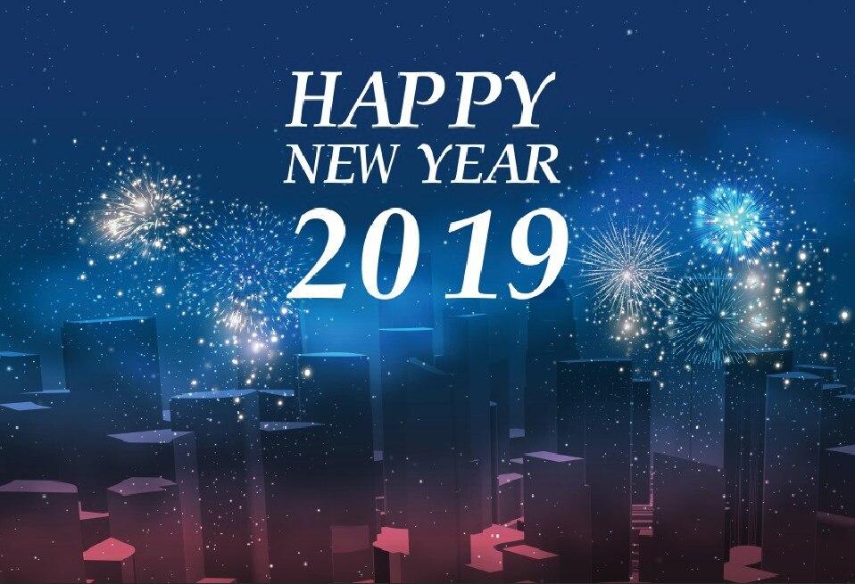 Aliexpress  Buy Laeacco Happy New Year 2019 Party City