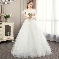 Vestidos De Novia 2019 New Wedding Gowns Elegant Chic Bride Dress Lace Sweety Lace Up Back Wedding Dresses Spring Summer Style