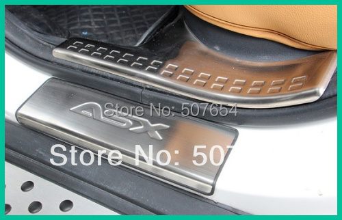 ФОТО High quality stainless steel 8pcs duel tone door sills/door sills footplate/door sills bar for  For MITSUBISHI ASX 2011