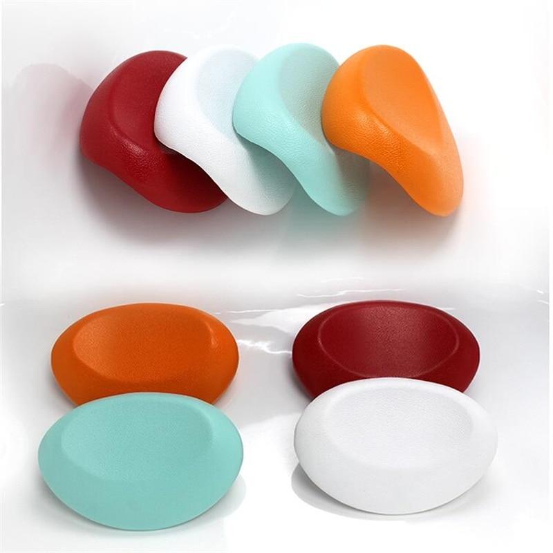 Alta calidad PU Colorido Confort diseño de ángulo Almohada de baño Bañera Almohada Bañera de hidromasaje con ventosas