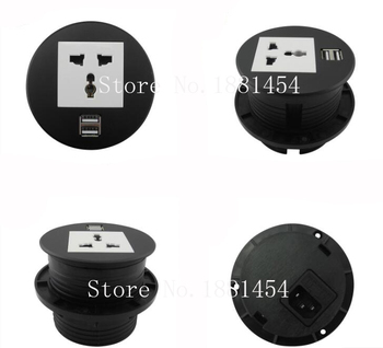2019 NEW high quality 1*universal + 2* charge usb ,for officer /meeting room /table ,black /silver. free shipping