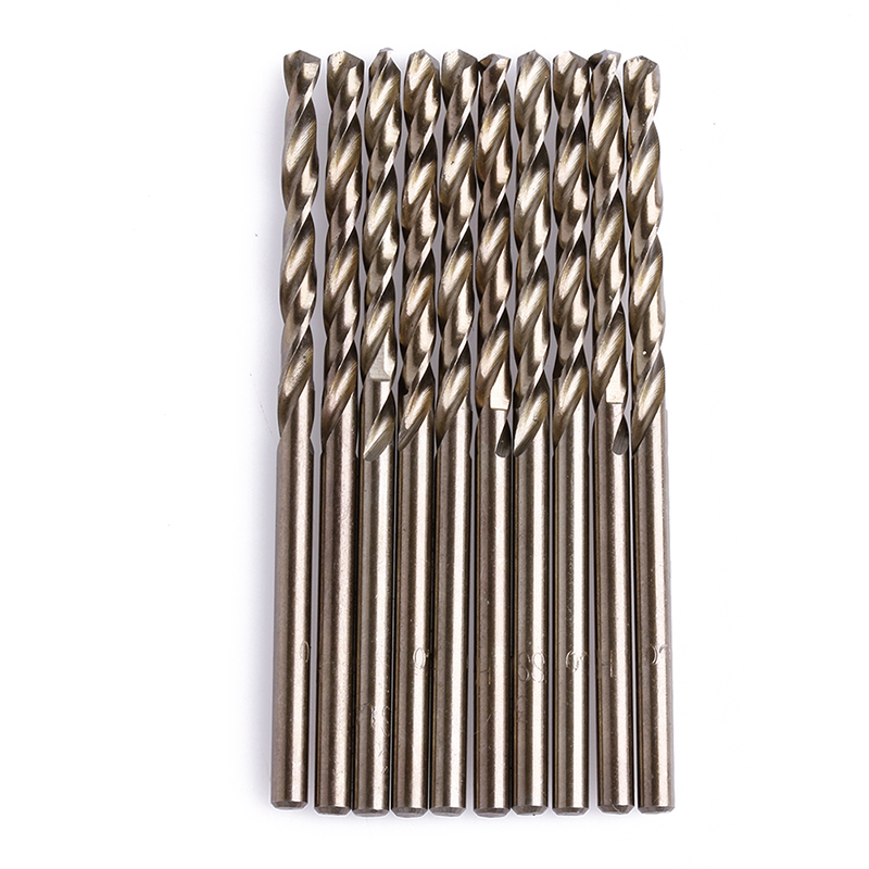 10Pcs//Set 1 mm M35 Triangle Shank HSS-Co Cobalt Forets Spiral Foret