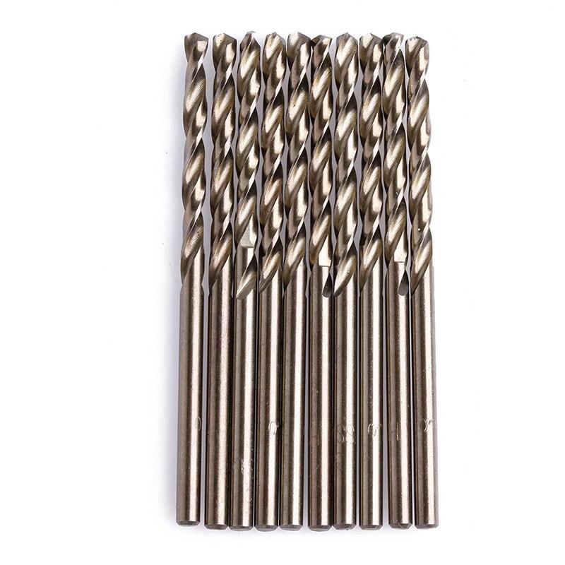 10Pcs/Set 3mm M35 Triangle Shank HSS-Co Cobalt Twist Drill Spiral Drill Bit