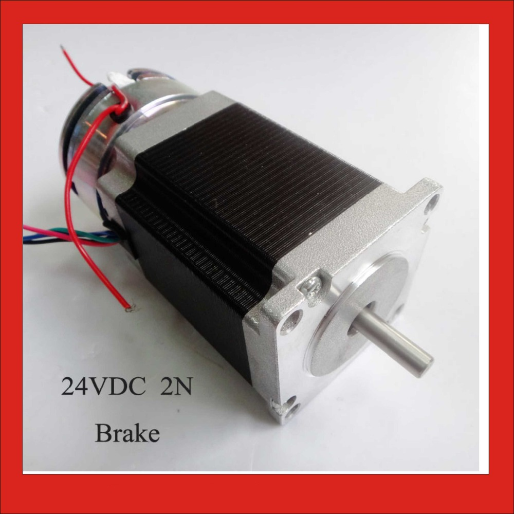 High Precision NEMA 23 Brake Stepper Motor Frame 57mm Stepper motor with Brake 24VDC 2N Brake 76mm Body CE ROHS цена
