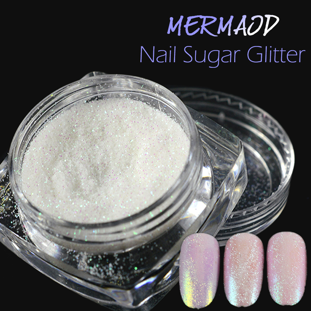 1 Bottle Mermaid Shining Nail Sugar Glitter Powder Dust Holographic Paillette DIY Craft Color Nail Decoration Manicure SATY01-05 12 bottle high quality nail glitter set multicolor nail powder dust women nail tip decoration materials manicure material