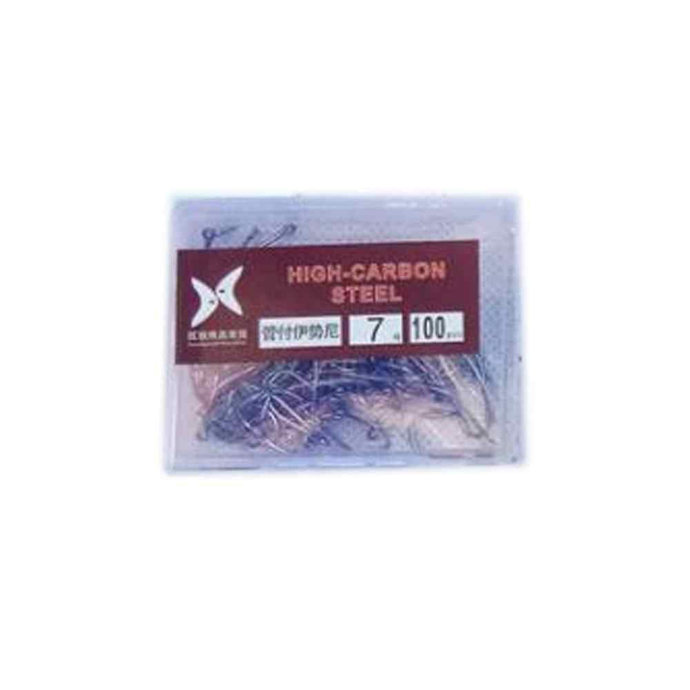 100PCS גבוהה פחמן פלדת קרסים דוקרני וו רך פיתוי דיג פיתיון דגי ווי יעילות גבוהה דוקרני