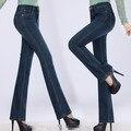 Autumn spring women jeans speaker wide leg pants denim trousers plus size female jeans