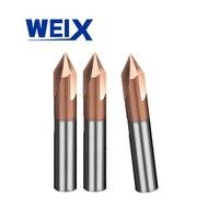 מכונת סוף WEIX 1PC 90A טחנת Solid Carbide chamfer סוף CNC כרסום קאטר HRC50 טונגסטן פיסות הנתב פלדה מכונת חיתוך (1)