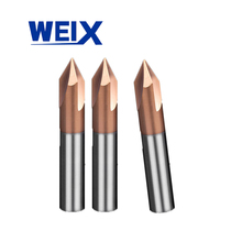 WEIX UCHEER 1PC 90A Solid Carbide chamfer end mill CNC Milling Cutter HRC50 Tungsten steel router bits  machine cutter