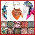 2016 New Winter Scarf 90*90cm Silk Satin Neck Foulard Femme Pattern Printed Women Fashionable Gift Square Scarves Bandana Pz08