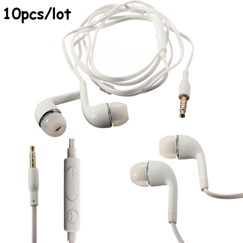 10 Pieces 3.5mm In-ear Earphone Earbuds Stereo Headset With Mic for Samsung Galaxy S4 S6 J5 iPhone Sony Xiaomi Phone s6 3 5mm in ear earphones headset with mic volume control remote control for samsung galaxy s5 s4 s7 s6 note 5 4 3 xiaomi 2