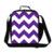 Personalizado Purple chevron impresión bolsa de almuerzo para las mujeres trabajo, aislado bolsos más frescos para la comida, negro chevron bolsa de almuerzo caja para las niñas