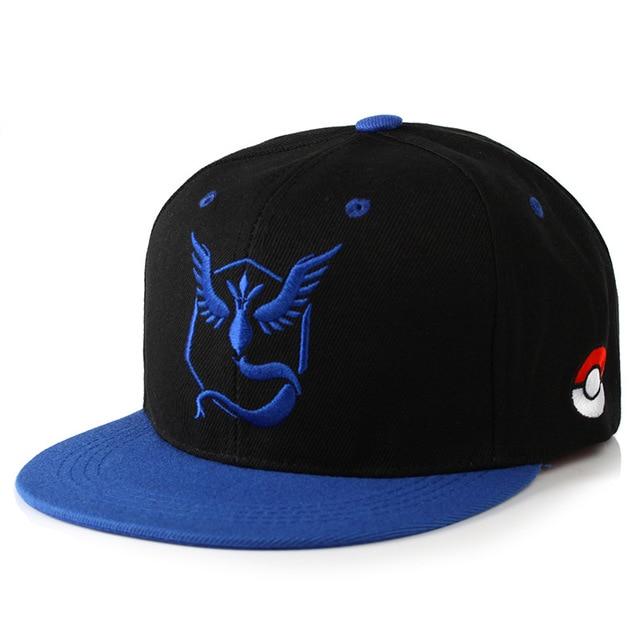 Gorra de Pokémon Go de los equipos Místico Valor e Instinto Merchandising de Pokémon
