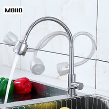 MOIIO Flexible Design Kitchen Sink Faucet Pull Out Kithcen Faucet Swivel Spout Chrome Hot and Cold  Mixer Tap Flexible Faucet недорго, оригинальная цена
