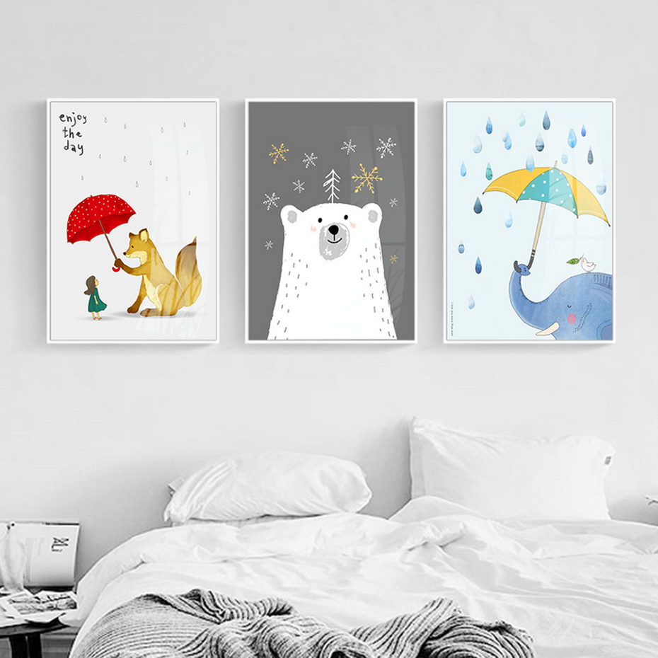 Animals, Frame, Posters, Home, And, Bedroom