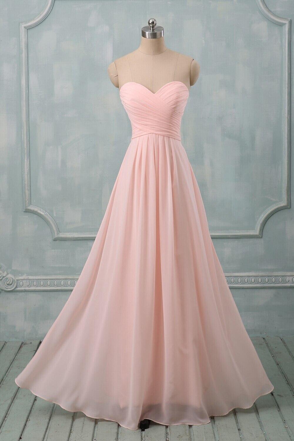 Lange jurk pastel