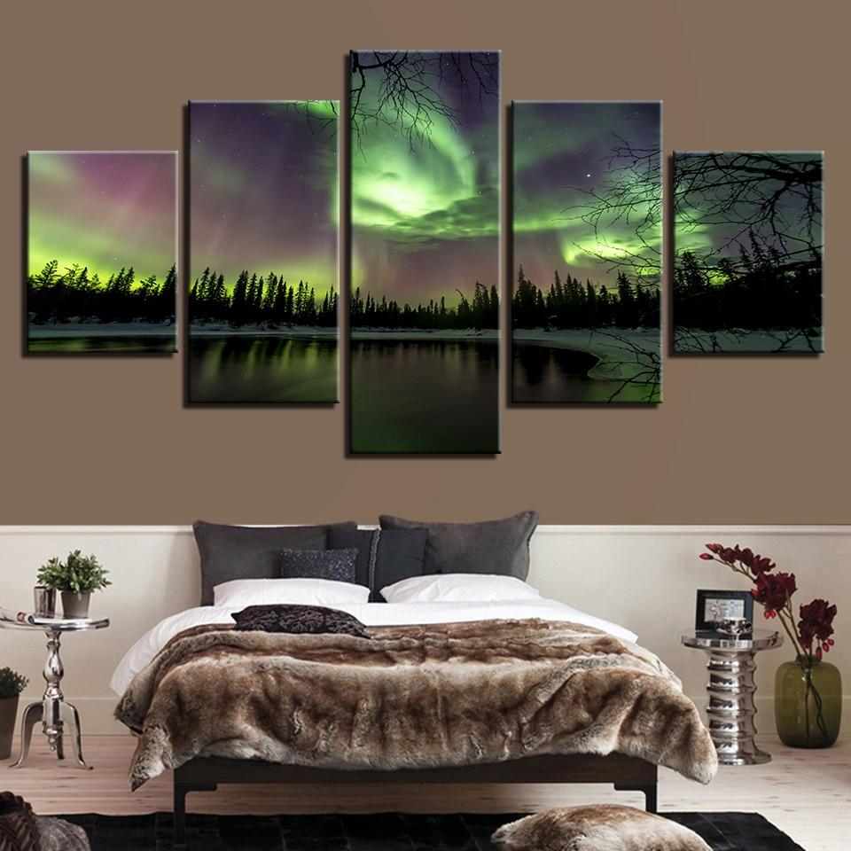 Lona HD imprime las pinturas modulares cuadros marco 5 unidades ...