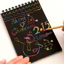 Новинка, книга для рисования, сделай сам, скретч, граффити, Волшебная нота, эскиз, черные картонные книги, детские игрушки, школьные принадлежности K6311