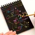 Новинка  книга для рисования  сделай сам  граффити  Волшебная нота  эскиз  черные картонные книги  детские игрушки  школьные принадлежности ...