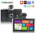 Shipping7 gratis pulgadas 1080 P Coche DVR Grabador de MP3 Mp4 con android gps wifi de la ayuda 3g transmisor fm google mapas