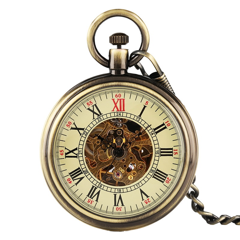 Classic Silver Automatic Mechanical Men Women Open Face Pocket Watches For Vintage Pocket Watch Self For Best Gifts