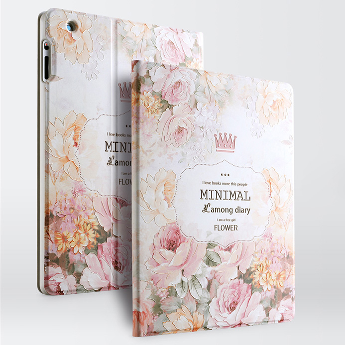 Gview Designer Smart Case For Ipad 4 3 2 3d Embossing Luxury Floral Fashion Smart Stand Leather Cover For Ipad 3 2 4 New ipad 3 new 16gb
