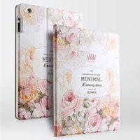 Gview Designer Smart Case For Ipad4 3 2 3d Embossing Luxury Floral Fashion Smart Stand Leather