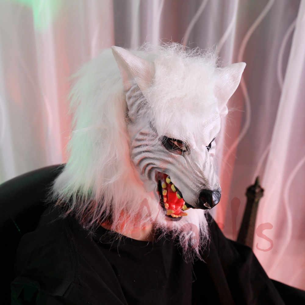 Demone Diavolo fantasma guanti Lupo Maschere In Lattice Cappuccio maschera mascherine del partito Horror reale testa di animale maske maska spaventoso Larp terrore zombie
