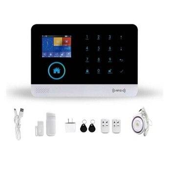 цена на 3G SMS Home Burglar Security Alarm System WIFI APP Control Alarmes Pet PIR Detector Door Window Sensor Kits