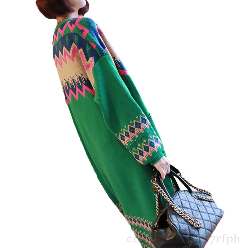 Long Cardigan Female 2019 Spring Autumn Long Sleeve Plus Size Stitching Cardigan Women Sweater Pockets Women Knitted Jacket Tops