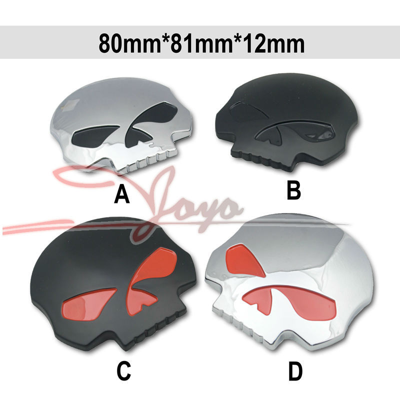 3D Skull Plastic Skeleton Car Sticker Label Skull Emblem Badge Car Styling Stickers For Jeep SUV Motorcycle Harley airsoft adults cs field game skeleton warrior skull paintball mask