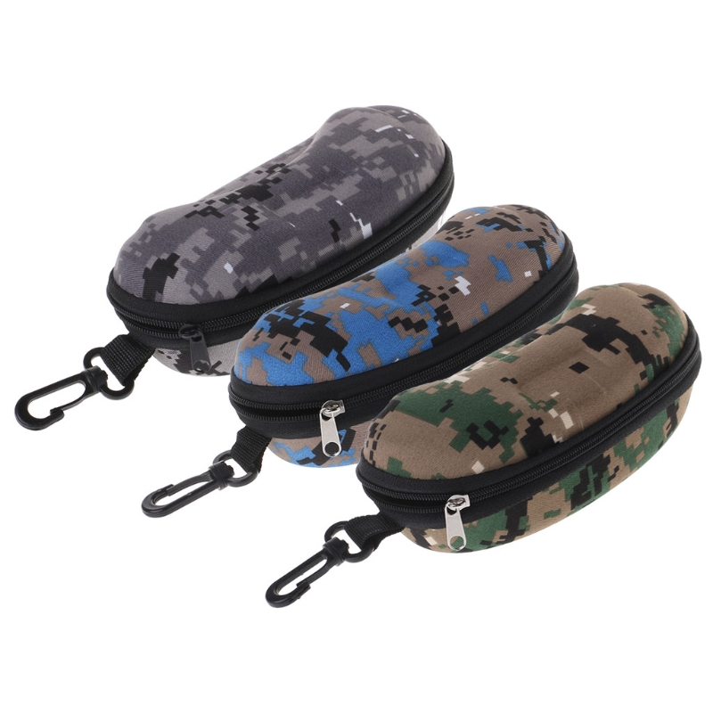 Fashion Glasses Box Zipper Portable Camouflage Sunglasses Case Optical Eyewear Accessory