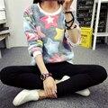 2017 Moda Primavera Mulheres camisola panda Lesser mulheres Gola alta Sólido elástico fino sexy apertado Assentamento Pullovers De Malha