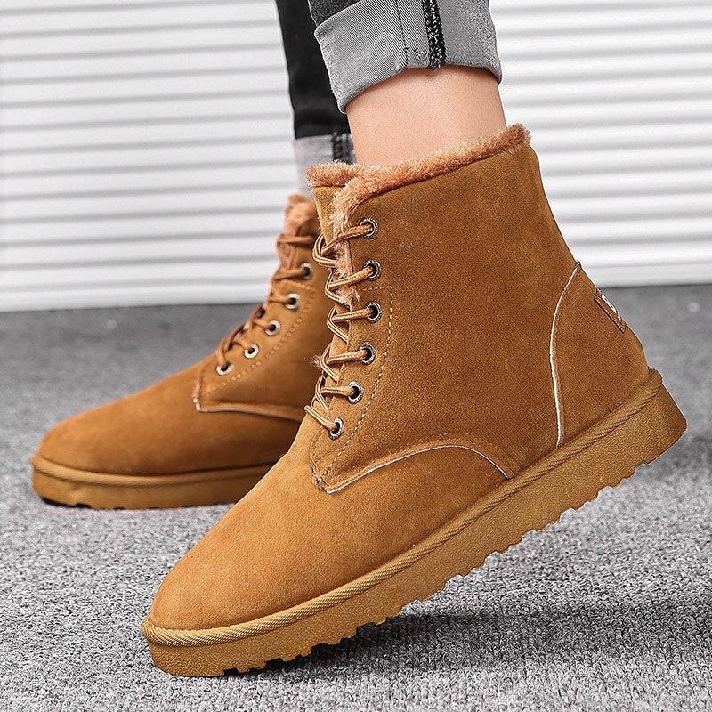 013eff1cb985bf Casual Mode Bottes Homme Chaud Chaussures De Noir En Heinrich Cuir Cheville  marron Peluche Hommes gris Travail Neige D'hiver xPHYnfqw