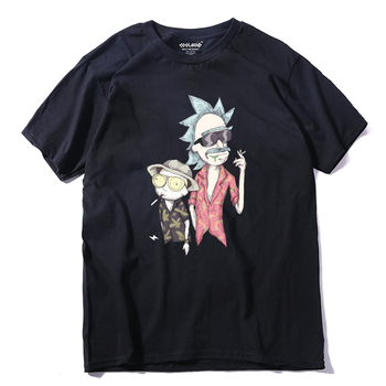 THE COOLMIND quality cotton short sleeve men rick and morty t shirt casual loose summer tshirt men o-neck men t-shirt RI0130A