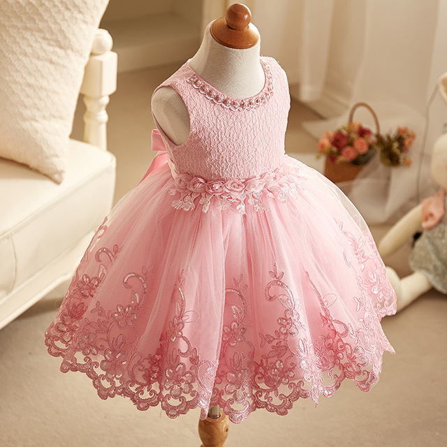 2018 New Lace Baby Girl Dress 9M-24M 1 Years Baby Girls Birthday Dresses Vestido birthday party princess dress