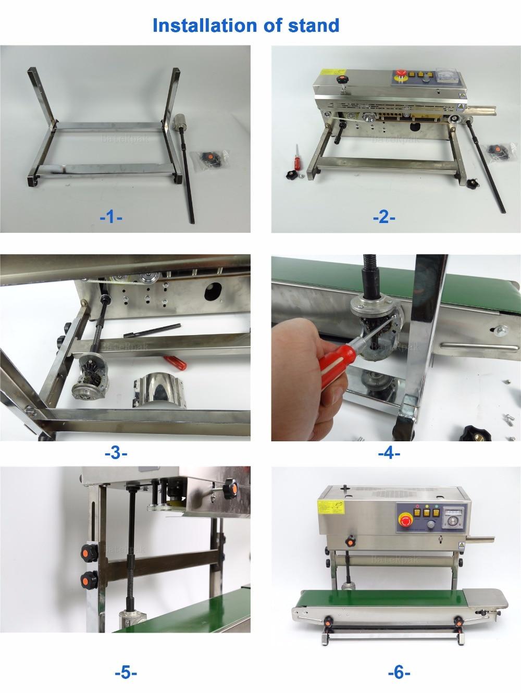 FR-770 Verticale BateRpak Continuous band sealer, roestvrijstalen - Lasapparatuur - Foto 5