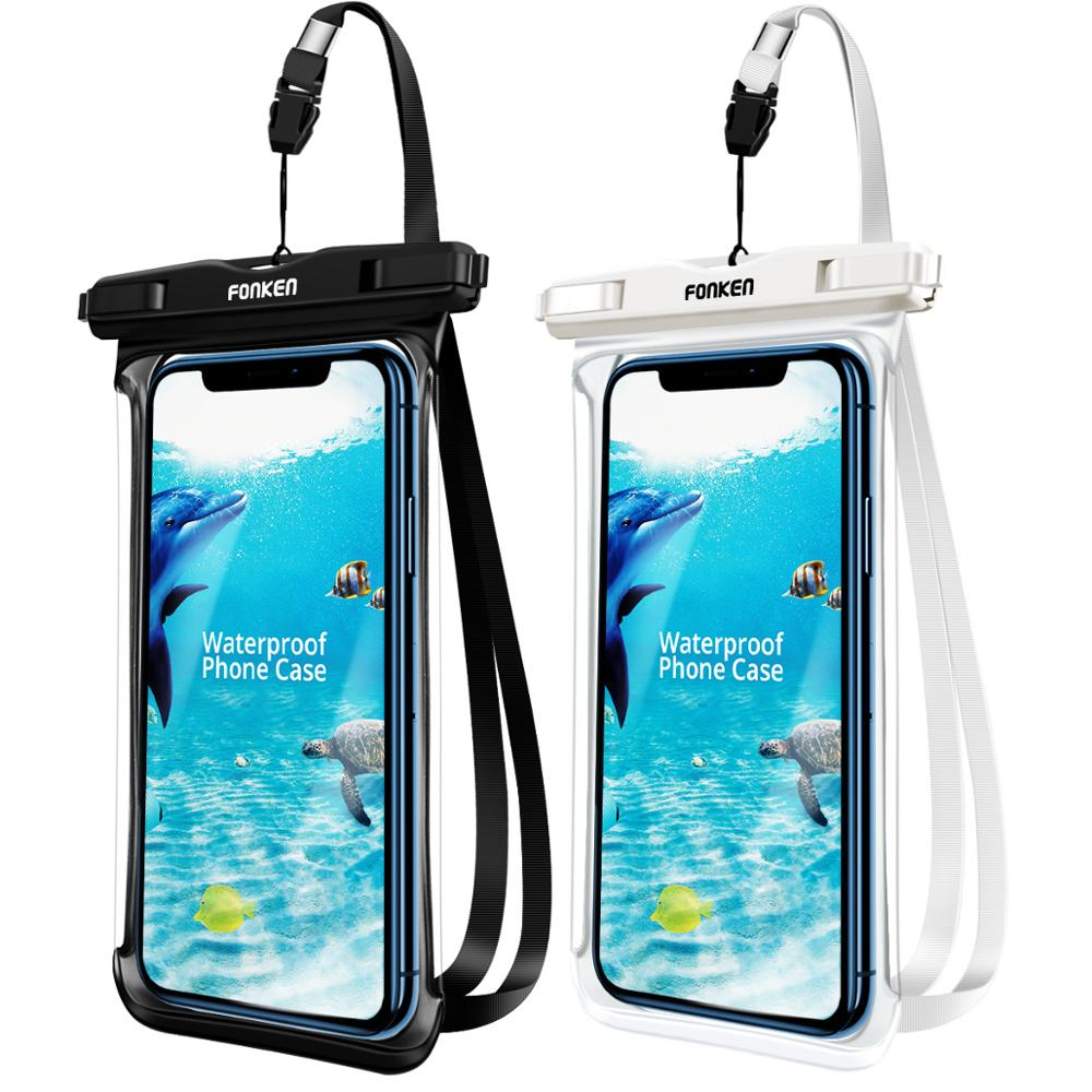 FONKEN Full View Waterproof Case Rainforest desert snow transparent dry bag Underwater Swimming Pouch Mobile Phone Covers(China)