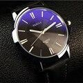 Couro moda Relógio de Quartzo Homens Marca De Luxo Esporte Relógios Para Homens de Negócios Casual Analógico de Pulso À Prova D' Água Relógio masculino