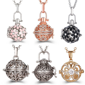 Mexico Chime Music Angel Ball Caller Locket Necklace Vintage Pregnancy Necklace Aromatherapy Essential Oil Diffuser Accessories(China)