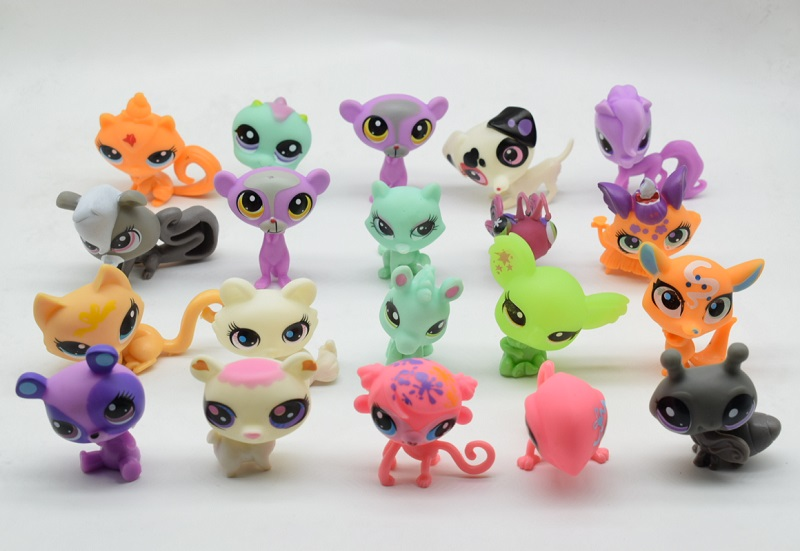 LPS lps Toy bag 20Pcs Shop Animals Cats Kids Children Action Figures PVC LPS Toy Birthday Gift 4-5cm patrulla canina with shield brinquedos 6pcs set 6cm patrulha canina patrol puppy dog pvc action figures juguetes kids hot toys