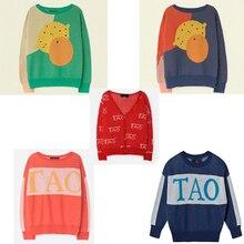 3dbf943464 Suéter de los niños 2019 Otoño e Invierno StRafina TAO bebé niños chicas  limón de punto suéter chaqueta para niño niños ropa