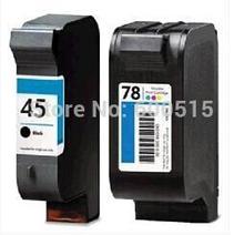 2 stücke Kompatible tinten cartridg HP45 HP78 51645A C6578D für 930c, 932c, 935c, 950c, 952c, 959c, 960c, 970cse980cxi, 990 cm,, 995c,