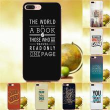Suave llamada caja para HTC 530, 626, 628, 630, 816, 820 A9 M7 M8 M9 M10 E9 más U11 Moto G G2 G3 G4 G5 citar inspiración de diseño frase