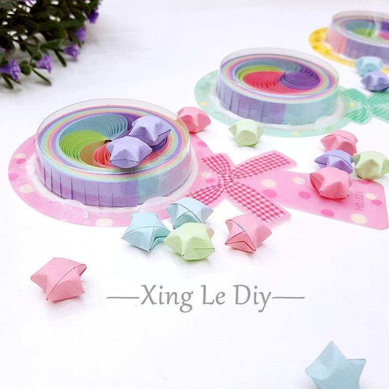 50 Strips 10 Colors Origami Lucky Star Paper Craft DIY Handmade Wedding Decor
