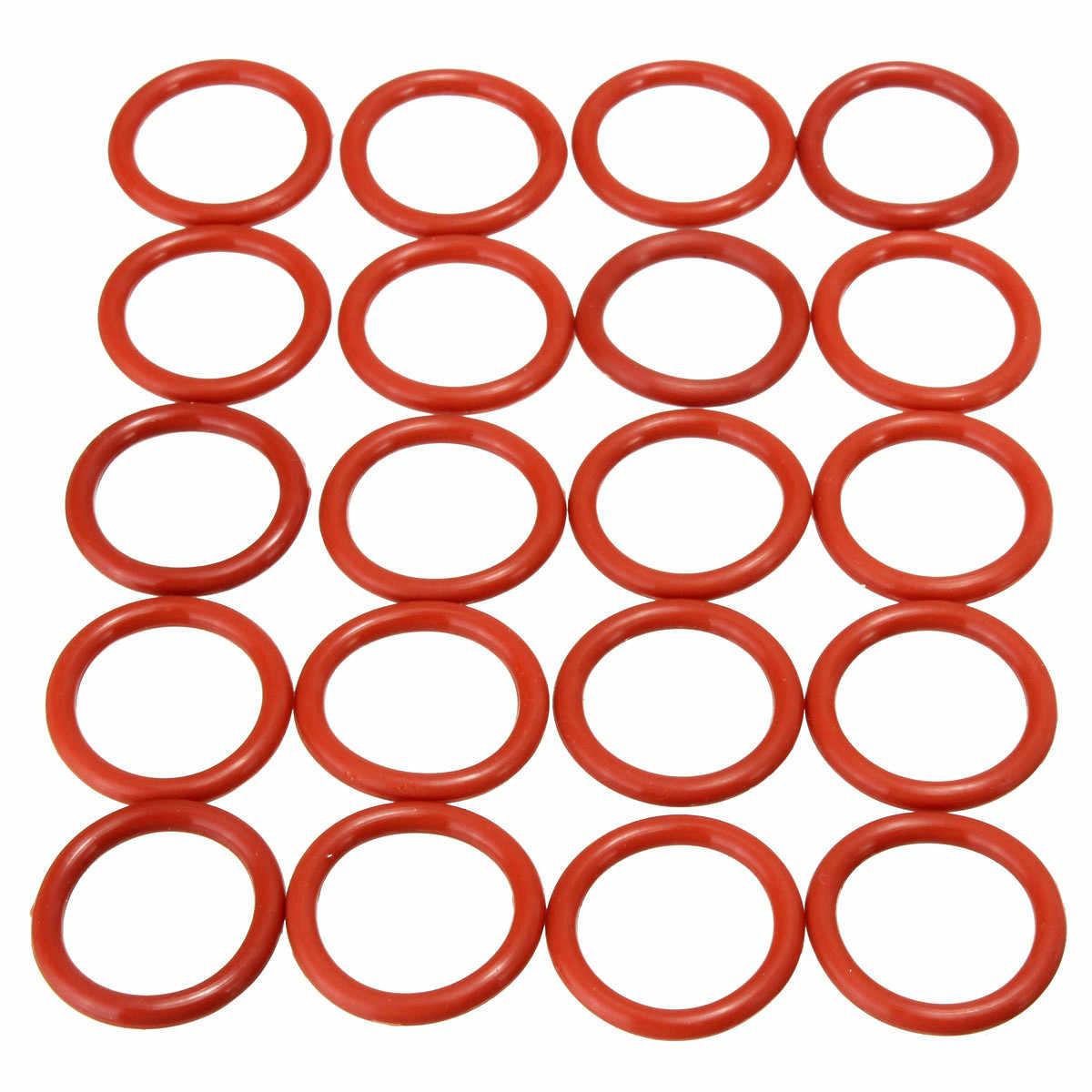 20 قطعة أنبوب المثبط حلقات سيليكون البرتقال سيليكون O-خواتم مناسبة ل 12AX7 12AU7 12AT7 12BH7 EL84