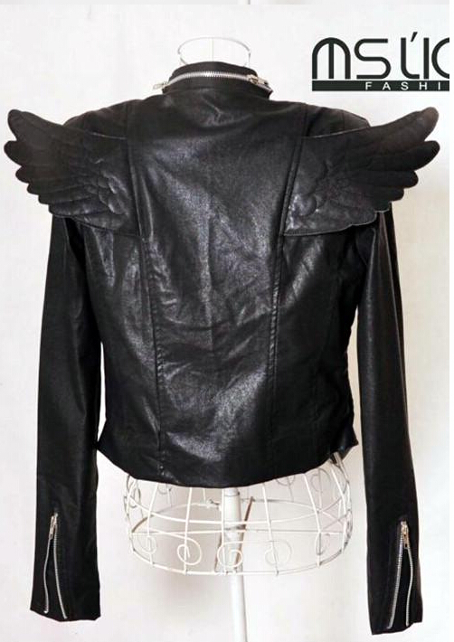 Весеннее пальто со стоячим воротником и длинными рукавами, приталенная мотоциклетная верхняя одежда, Короткая кожаная куртка на молнии в стиле панк, женские костюмы