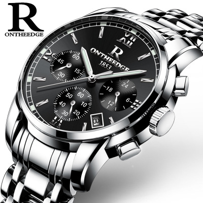 Chasy 2018 Newest High quality ONTHEEDGE Multi Functional Full Steel Watch Fashion Men Calender Business Waterproof Quartz Watch цена и фото