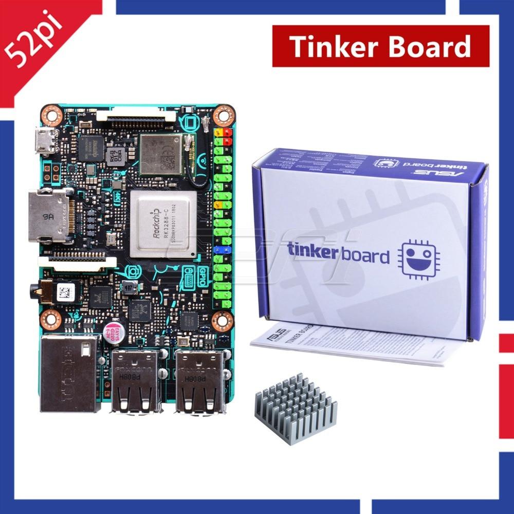 52Pi Agent! Official ASUS SBC Tinker Board RK3288 SoC 1.8GHz Quad Core CPU, 600MHz Mali-T764 GPU, 2GB LPDDR3 Tinkerboard gpd xd 5 inch android4 4 gamepad 2gb 32gb rk3288